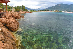 Корсиканский залив Sagone стоковая фотография