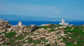 Корсика от Сардинии Стоковая Фотография RF