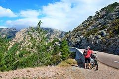 Корсик-дорога от Zonza к Col de Bavella стоковое фото rf