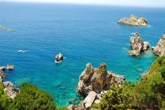 Корфу Paleokastritsa, Греция стоковые фото