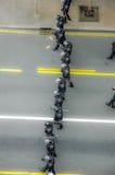 Кордон полиции на улице стоковая фотография rf