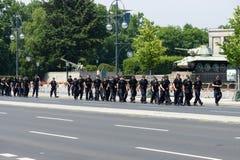 Кордон полиции около строба Бранденбурга стоковые изображения