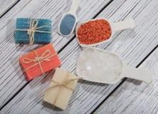 Косметика ванны курорта предпосылка косметики мыла Стоковое Изображение
