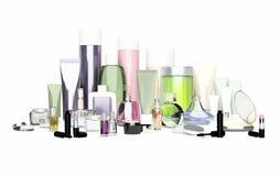 Косметика ежедневных, красоты заботы и продукты состава Сливк стороны, ey бесплатная иллюстрация