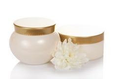 Косметика creams для заботы Стоковые Изображения