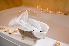 Косметики гостиницы в ванной комнате Стоковое Изображение RF