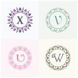 Косметики и письма y марки товара красоты и логотип s конструируют Вензель письма вектора z и b Стоковые Фото