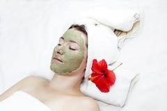 косметическая маска девушки Стоковые Фото