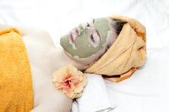 косметическая маска девушки Стоковое Изображение RF