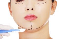 Косметическая хирургия стороны Стоковые Фотографии RF
