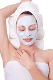 косметические детеныши женщины маски Стоковое Изображение