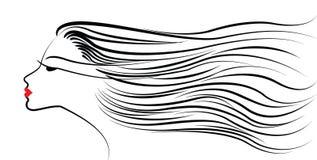 косметический стиль причёсок иллюстрация штока