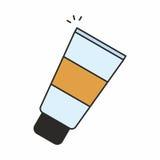 Косметический cream значок Стоковые Фотографии RF