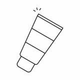 Косметический cream значок иллюстрация штока