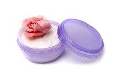 косметический cream раскрытый опарник Стоковые Фото