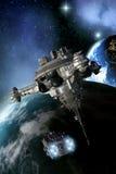 Космическая боевая станция иллюстрация штока
