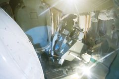 Космическая капсула спуска Стоковые Фотографии RF