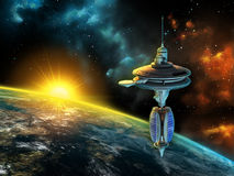космическая станция Стоковая Фотография