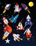 космические корабли иллюстрации Стоковые Изображения RF