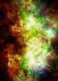 Космические космос и звезды, красят космическую абстрактную предпосылку Стоковые Изображения RF