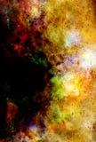 Космические космос и звезды, красят космическую абстрактную предпосылку Стоковые Фотографии RF