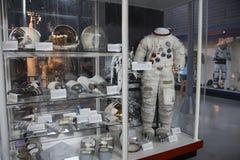 Космические костюмы на музее стоковая фотография