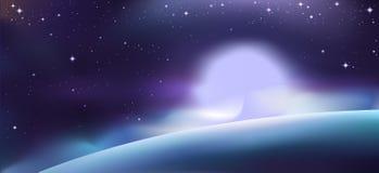 Космические света иллюстрация вектора