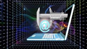 Космические технологии радиосвязей Интернет Стоковые Изображения RF