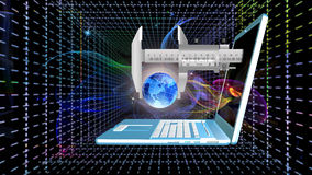 Космические технологии радиосвязей Интернет Стоковое Изображение