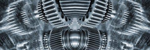 Космические шестерни и cogwheels титана Стоковое Фото