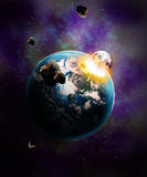 Космический взрыв Стоковые Изображения
