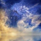 космический заход солнца Стоковая Фотография RF