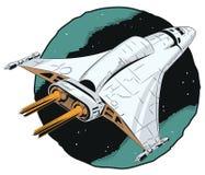 Космический корабль в полете Стоковые Фото