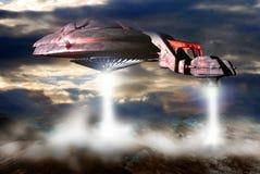 космический корабль посадки Стоковые Фотографии RF