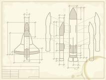 космический корабль светокопии Стоковые Изображения