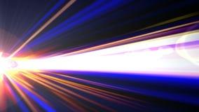 Космический корабль в гипер космосе иллюстрация штока