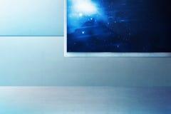 космический корабль интерьера иллюстрации шаржа смешной Стоковые Фото