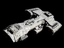 Космический корабль на черно- переднем angled взгляде Стоковое Фото