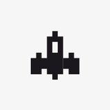 Космический корабль 2 пиксела вектора Стоковая Фотография