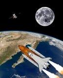 Космический корабль Ракеты космического летательного аппарата многоразового использования Стоковые Изображения