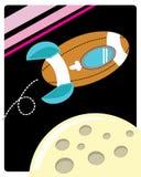 Космический корабль шарика рэгби Стоковое Изображение