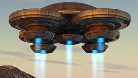 космический корабль 3d Стоковые Изображения