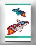 Космический корабль EPS 10 Стоковое Фото