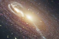Космический ландшафт, внушительные обои научной фантастики с бесконечным космическим пространством Элементы этого изображения пос стоковые фотографии rf