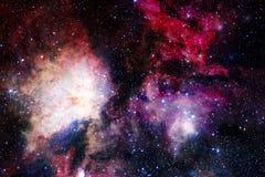 Космический ландшафт, внушительные обои научной фантастики с бесконечным космическим пространством стоковая фотография rf