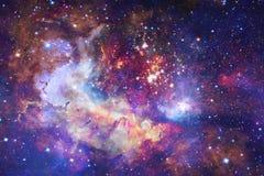 Космический ландшафт, внушительные обои научной фантастики Элементы этого изображения поставленные NASA стоковое фото