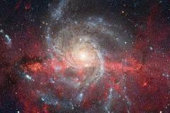 Космический ландшафт, красочные обои научной фантастики с бесконечным космическим пространством Элементы этого изображения постав стоковая фотография rf