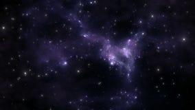 Космический полет через межзвёздное облако Космический полет акции видеоматериалы