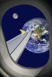 космический полет стоковые фото