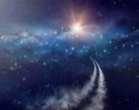 Космический полет стоковая фотография rf
